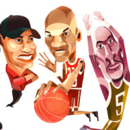 """Highest Paid in Sports"" Illustration Commissioned By Infographicworld in NY City."