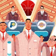 """NBA Draft Lottery"" Illustration Commissioned By Infographicworld in NY City."