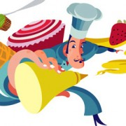 """Buen Gourmet"" Illustrations Commissioned by EINA Barcelona Spain."