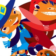 """""""Halloween kids"""" Illustrations Published by Expreso Newspaper in Sonora Mex."""