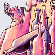 """Alcohol vs Libros"" Illustration for Expreso Newspaper in Sonora México."