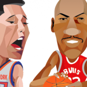"""NBA Players"" Illustration Commissioned By Infographicworld in NY City."