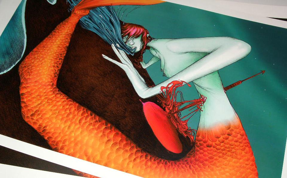 """Sirena"" Digital Prints."