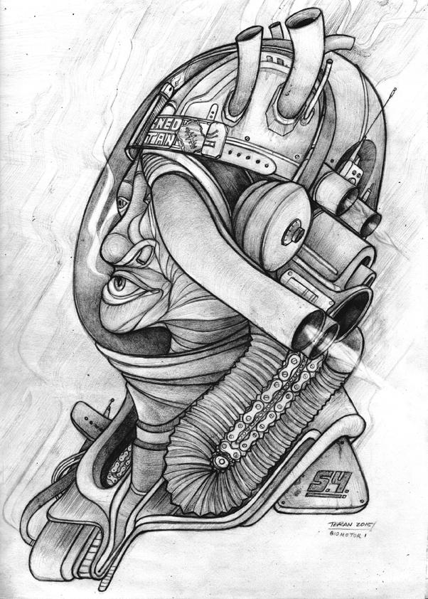 BIOMOTOR SERIES, PERSONAL ARTWORK.