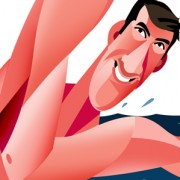 """Michael Phelps"" Illustration Commissioned By Infographicworld in N.Y City."