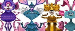 Diseño de Personajes para artículo de Revista Moi. (México)