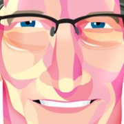 """Tim Cook"" Illustration Commissioned By Infographicworld in NY City."